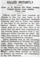 Newspaper clipping– From the Daily Colonist of July 3, 1917. Image taken from web address of https://archive.org/stream/dailycolonist59y176uvic#page/n0/mode/1up