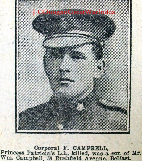 Newspaper Clipping– One of Ireland's Brave Sons. Lest We Forget.