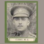 """Photo of Walter Eyre Curry– From """"The War Book of Upper Canada College"""", edited by Archibald Hope Young, Toronto, 1923.  This book is a Roll of Honour including former students who served during the First World War."""