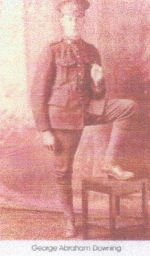 Photo of George Downing– FROM: Magnetawan Legion Book of Remembrance, 1914