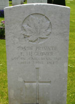 Grave Marker– Photo courtesy of Wilf Schofield, England.