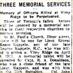 Newspaper Clipping– Original article describing the unveiling of the memorial tablet dedicated to Lt. William Henderson Gregory.