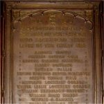 """Commemorative Plaque– """"The bronze memorial tablet, sacred to the memory of those members of our congregation, who laid down their lives in the recent great war, and subscribed for by the members of the congregation""""-this statement appeared in a 1922 church publication."""