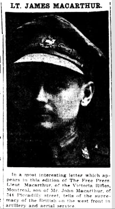 Newspaper clipping– From the London Free Press September 1916. Submitted for the project Operation Picture Me