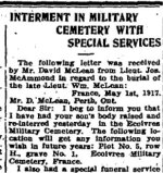 Newspaper Clipping 5– Clipping from the Perth Courier for 1 June 1917.