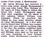 Newspaper Clipping– From the Perth Courier for 18 May 1917.