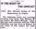 Newspaper Clipping 2– Letter published in the Perth Courier for 23 February 1917.