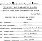 Attestation Papers– Officer's declaration form.