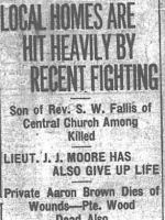 Newspaper clipping– CALGARY DAILY HERALD 16 APRIL 1917