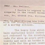 Condolence letter– Condolence letter to the family from the Company Commander