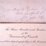 Condolence letter 2– Condolence letter from the Prime Minister and Parliament.