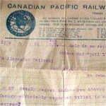 Telegram– Notification of death telegram to the family.