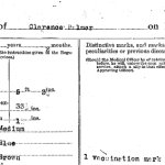 Attestation Papers (Back)– Attestation paper (page 2) for Clarence Palmer, reg. no. 219277.