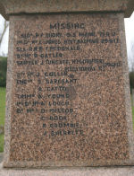 Inscription– Photo provided by The Commonwealth Roll Of Honour Project. Volunteer Henry Drury