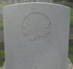 Grave Marker– Photo provided by The Commonwealth Roll Of Honour Project. Volunteer Henry Drury