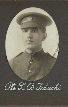 Photo of LEO BERNARD TEDESCHI– In memory of the employees of the T. Eaton Company that went to war and did not come home.  Submitted for the project, Operation: Picture Me