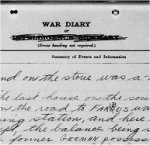 War Diary– 5th Canadian Field Ambulance. War Diary for April 1917, page 16, recording death of Private C. Stagg.
