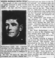 Newspaper clipping– Barrie Examiner, 26 Apr 1917