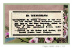 Newspaper clipping– In honoured memory.