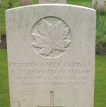 Grave Marker– Grave Marker for Lt. Col. Thomson Courtesy of Wilf Schofield, England, 2009.