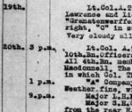 Diary Entry– 4th Battalion diary entry Courtesy of Wilf Schofield.