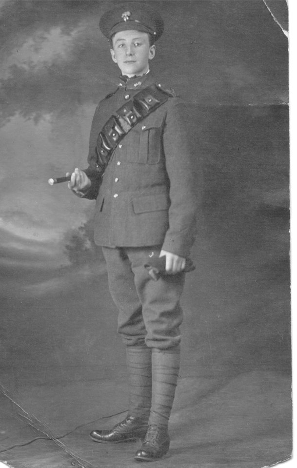 Photo of George Watts– Private George Albert Watts, reg. no. 159208. Contributed to the 18th Battalion Facebook Group by Jennifer Thompson-Johnson.