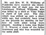 Coupure de presse – Article du Renfrew Mercury du 12 juillet 1918.