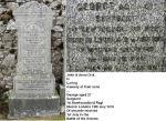 Family Marker– Sergeant Dick's family gravestone in Largs Cemetery