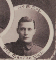 Photo of GEORGE DICK– In memory of the men and women from Newfoundland who went away to war and did not come home. From the  Rooms Archives and Museum St Johns Newfoundland. Submitted for the project, Operation Picture Me