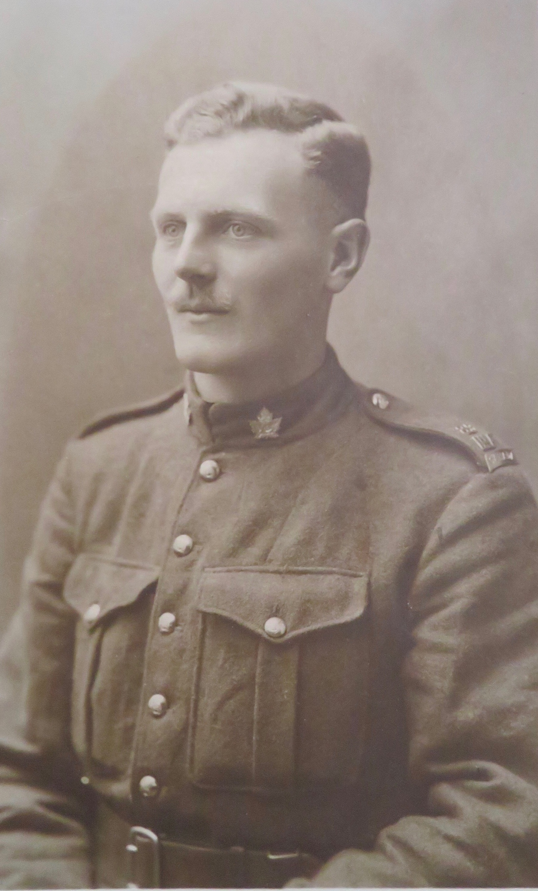 Photo of ROGER WILSON– Private Roger Wilson portrait sent on a postcard to his neighbours in Longsleddale, Westmoreland. Date unknown.