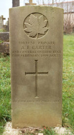 Grave Marker– Photo provided by The Commonwealth Roll Of Honour Project. Volunteer Evelyn Symmonds