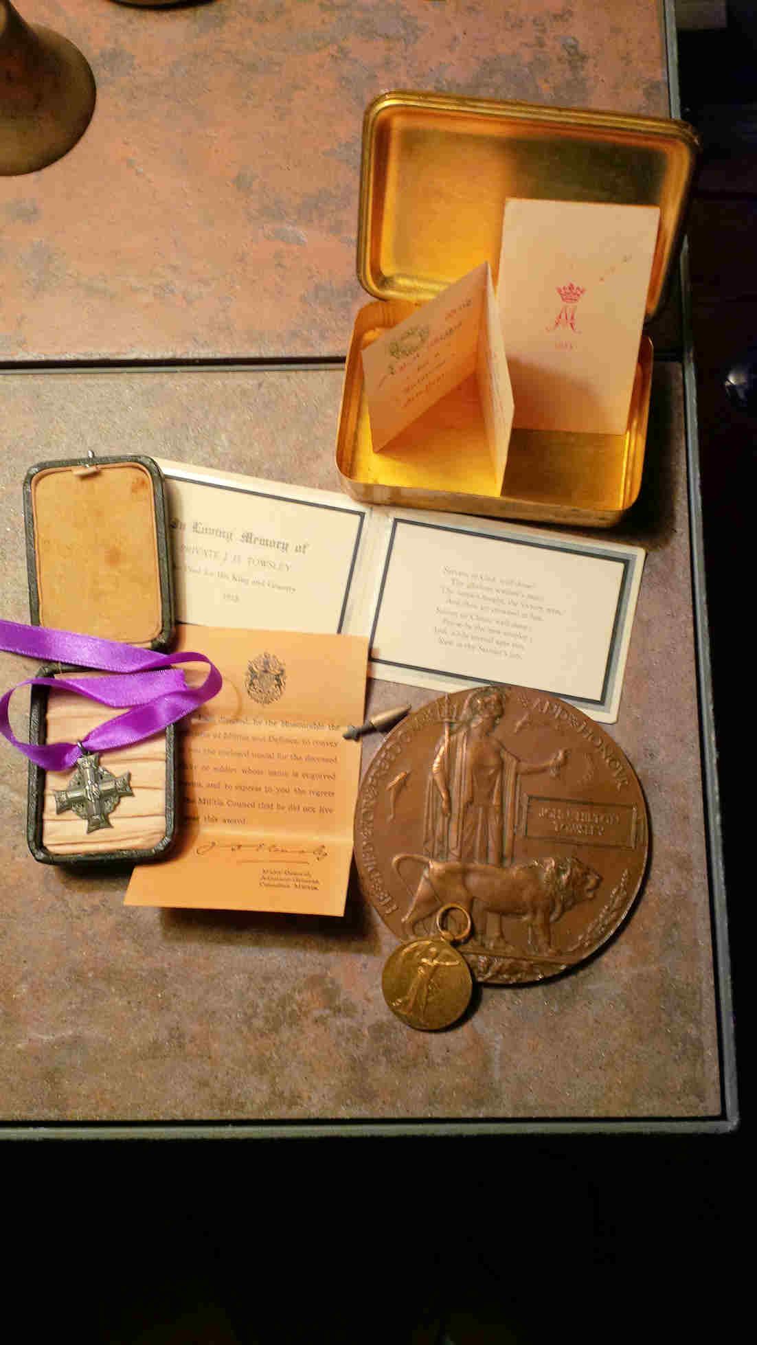 Artifacts– Family keepsakes of John.