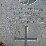 Grave marker– His grave in Flintshire, Wales
