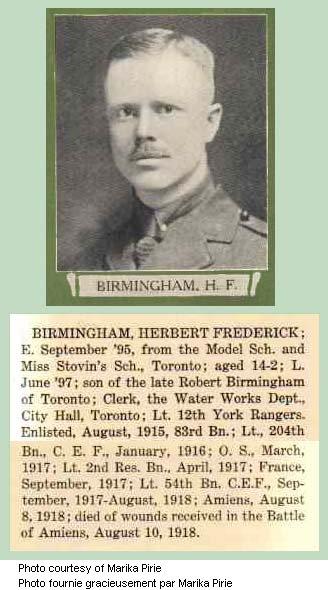 Photo of Herbert Frederick Birmingham