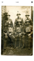 """Group Photo– Officers of """"B"""" company 54th battalion. Herbert Frederick Birmingham is located in the front row, very right.(#6)"""