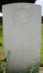 Grave Marker– Died of wounds. Photo and additional information provided by The Commonwealth Roll Of Honour Project. Volunteer Mike Symmonds