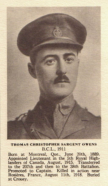 Photo of Thomas Sargent Owens