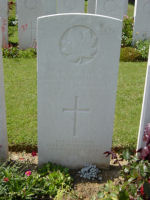 Grave Marker– Killed in action. Photo and additional information provided by The Commonwealth Roll Of Honour Project. Volunteer Mike Symmonds