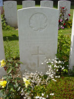 Grave Marker– Died of wounds received at Hangard Wood. Photo and additional information provided by The Commonwealth Roll Of Honour Project. Volunteer Mike Symmonds