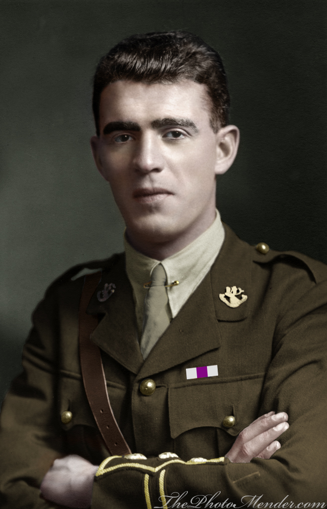 Photo of Rupert Bartlett– Captain Rupert W. Bartlett died on 30 November 1917 aged 26. He earned a Military Cross and Bar. He was the brother of famous Newfoundland explorer Captain Bob Bartlett.