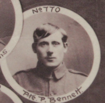 Photo of PETER FRANCIS BENNETT– In memory of the men and women from Newfoundland who went away to war and did not come home. From the  Rooms Archives and Museum St Johns Newfoundland. Submitted for the project, Operation Picture Me
