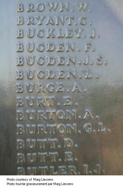 Inscription on Beaumont-Hamel Memorial