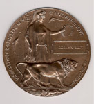Medallion– Medallion sent to Dorman's parents after his death in the First World War.