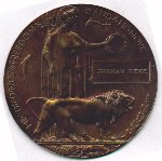 Medal– Memorial plaque belonging to Jeremiah Fudge.