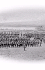 Marching Drill– Royal Newfoundland Regiment at a marching drill.