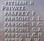 Inscription on Beaumont-Hamel Memorial