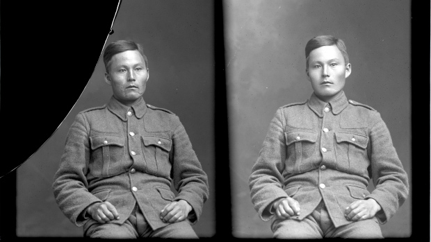 Photo of John Shiwak– 1915, 1st Royal Newfoundland Regiment