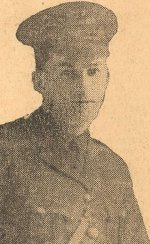 Newspaper Clipping– Born 1895 in Glenwood, Nova Scotia.  Employed as a teller in the Barrington Street branch of the Bank of Nova Scotia in Halifax, N.S.  Enlisted in 1915, fought in France in 1916 and was awarded the Military Cross for conspicuous bravery. Shot down while on patrol as a Captain in the 9th Squadron Royal Flying Corps and presumed dead in April 1917.
