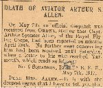 Newspaper Clipping– From the Yarmouth Herald for 5 June 1917.