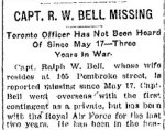 Newspaper Clipping– From the Toronto Star for 25 May 1918.